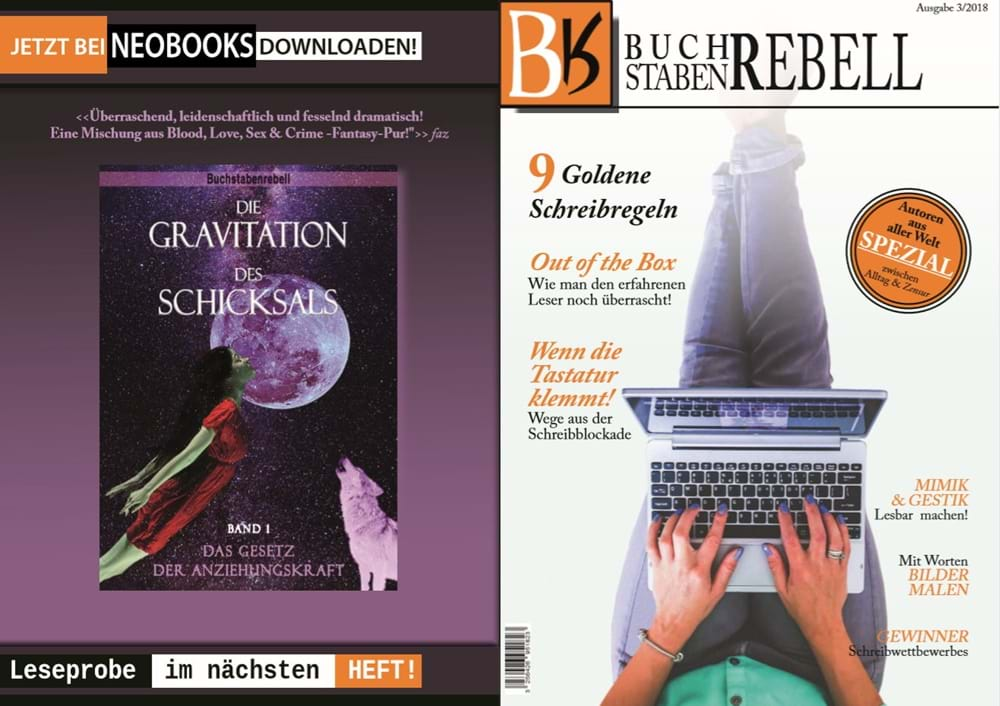 Backcover, Frontcover des Buchstabenrebell-Magazins